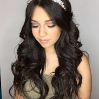 bridesmaids hairstyle and makeup