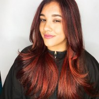 red hair ombre balayage miami salon