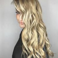 blonde bombshell balayage