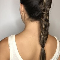 bridesmaids braided hairstyle