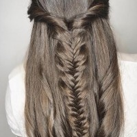 brunette braid hairstyle