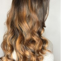 caramel brown tones