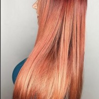 red hair balayage miami salon