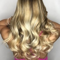 golden blonde ombre