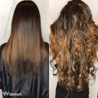 Greatlengths hair extensions before and after