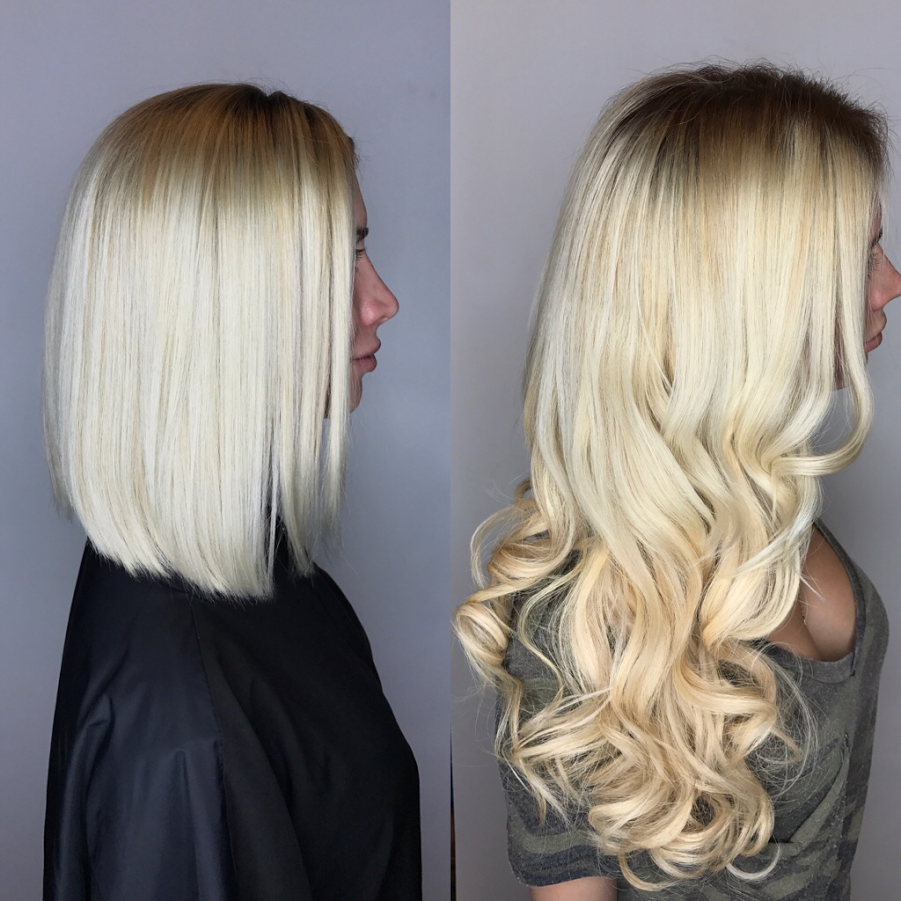 Hair extensions types to lengthen hair ag miami salon from bob to long hair miami salon pmusecretfo Image collections