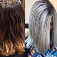 Before and After Dramatic Color Change
