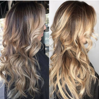 Before and After Hair Balayage in Coral Gables Hair Salon