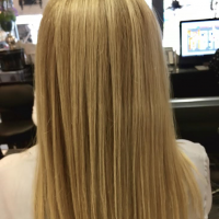 blonde hair long straight blowdry miami