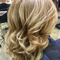 blonde highlights and waves miami salon