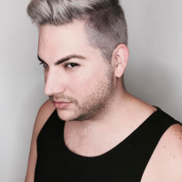 silver mens color edgy haircut