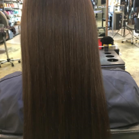 natural long brown hair