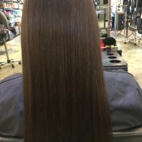 natural long brown hair