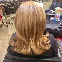 warm tones hair color miami