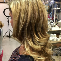 blonde highlights miami salon