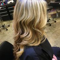 full blonde highlights miami salon