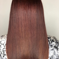 red hair color miami salon
