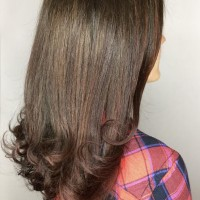 natural brown color cut and style