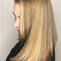 blonde lob hairstyle