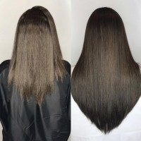 before and after hair extensions miami