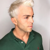 edgy mens cut and color  miami salon