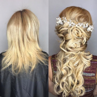 before and after greatlengths hair extensions miami
