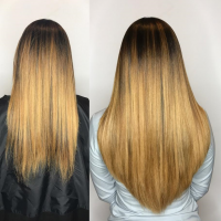 Experienced Certified Hair Extensions Specialists - Before and After Extensions on Hair