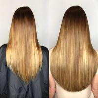 hair extensions long hair before and after