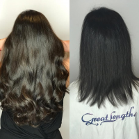 Experts Performing Hair Extension Installations