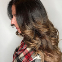 caramel toned ombre coral gables