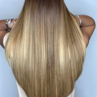 long haircut and balayage miami salon