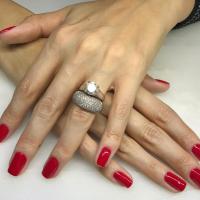 classic red manicure miami