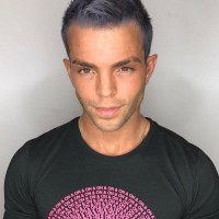 edgy color and haircut for men