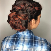 braided updo miami salon