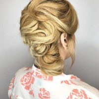 Hair Styled Updo Salon Coral Gables