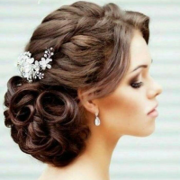 elegant bridal updo coral gables