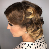 vintage updo miami hair salon