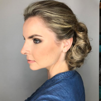 simple updo miami salon