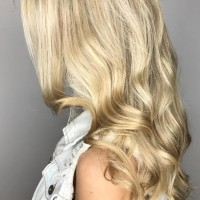 blonde highlights and waves