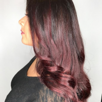 deep red ombre