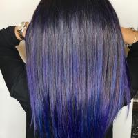funky purple balayage