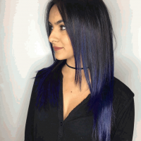 funky purple ombre balayage