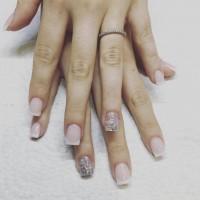 pink and white acrylic salon miami
