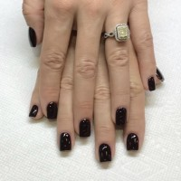manicure black nail polish